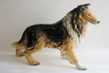 vintage Goebel West Germany china Lassie figurine, huge collie dog statue