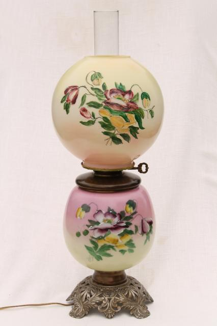 Plum Lamp Shades Lamps. Vine Shabby Chic Hand Painted ...