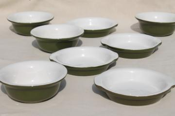 vintage Hall restaurant ware ironstone china, cereal bowls & egg dishes or gratins