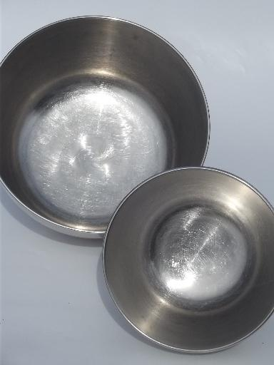 Electric Mixing Bowl ~ Vintage hamilton beach mixer bowls stainless bowl set for