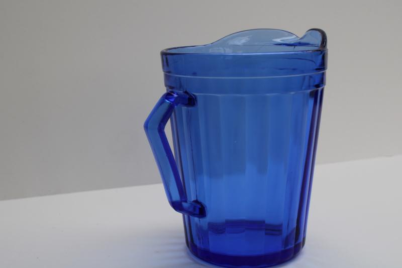 vintage Hazel Atlas cobalt blue depression glass milk pitcher or creamer