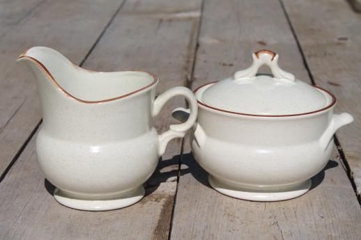 vintage Hearthside stoneware dishes set for 8, Foliage Time retro ...