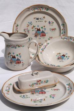 vintage Heartland International stoneware Japan dishes, accessory & serving pieces