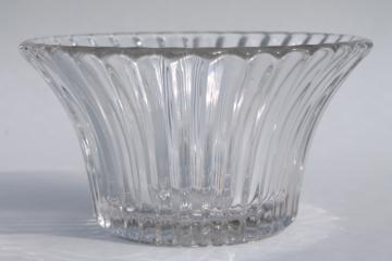 vintage Heisey Ridgeleigh pattern pressed glass mayonnaise bowl, mayo or sauce dish