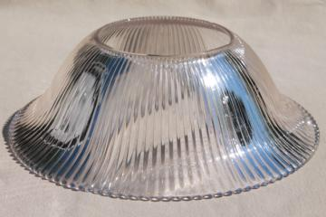 vintage Holophane glass lampshade, replacement shade for antique lamp or hanging light