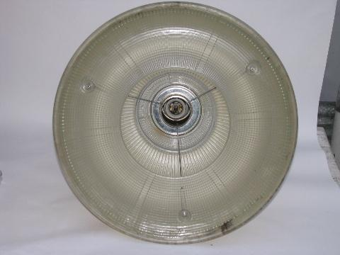 vintage Holophane industrial machine-age pendant light