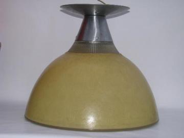 vintage Holophane industrial machine-age pendant light