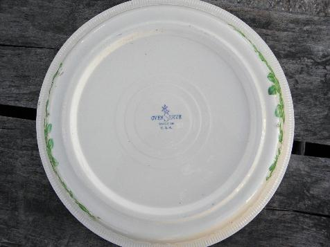 vintage Homer Laughlin Oven Serve kitchen pottery, pie plate, pie pan baker