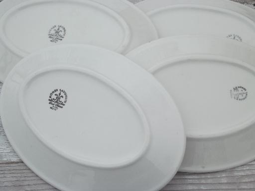 Vintage Homer Laughlin Best China Oval Plates Ming Blue