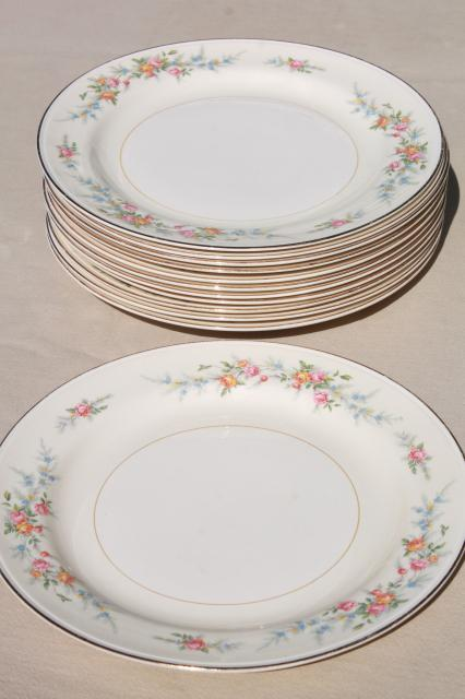 vintage homer laughlin eggshell nautilus china dinner plates cashmere pattern floral - China Dinner Plates