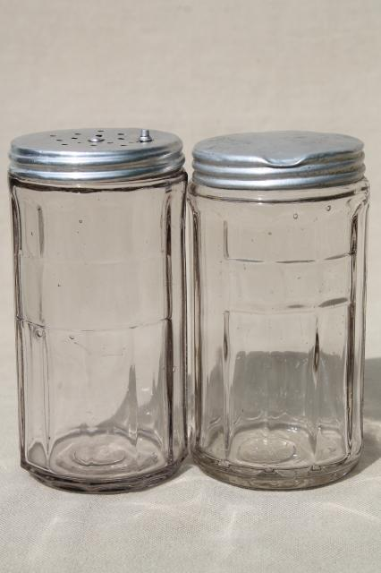 Vintage Hoosier Jars, Depression Glass Kitchen Canisters For Coffee, Tea,  Spice Jar Su0026P Shakers