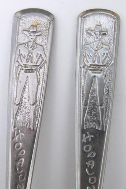 Vintage Hopalong Cassidy Fork And Spoon Child S Size