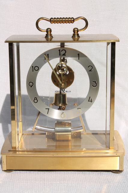 Vintage Howard Miller Brass Carriage Clock W Mystery