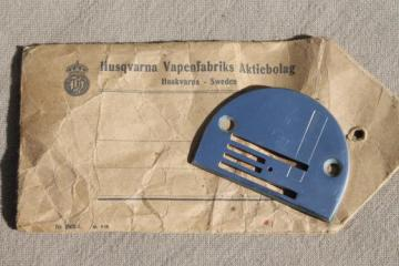 vintage Husqvarna Viking 33-10 sewing machine stitch plate, new old stock replacement part