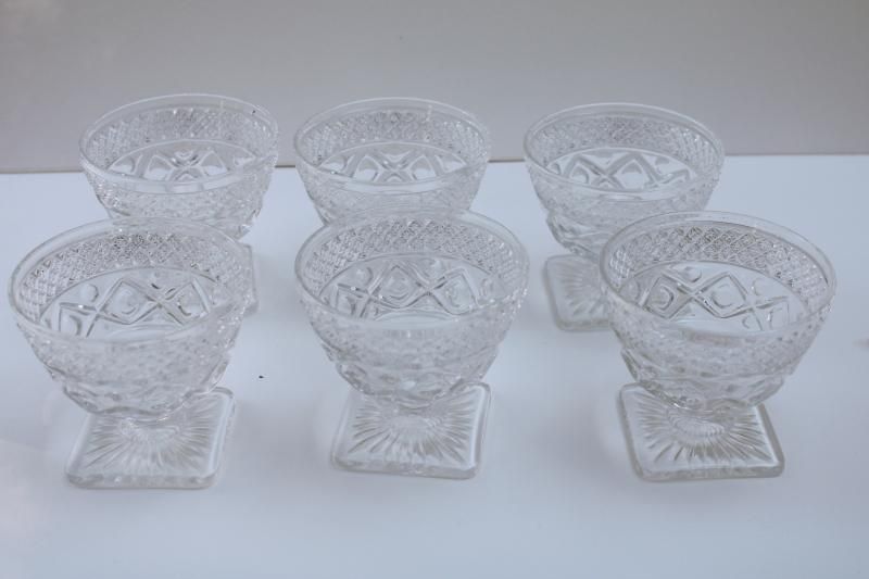vintage Imperial Cape Cod crystal clear glass champagne glasses or dessert dishes