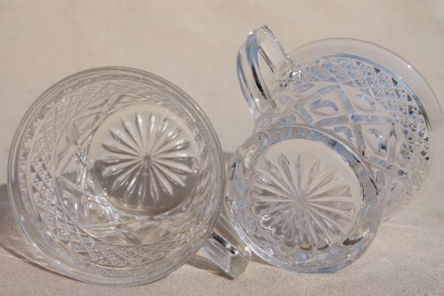 Vintage Imperial Cape Cod Crystal Clear Pressed Pattern