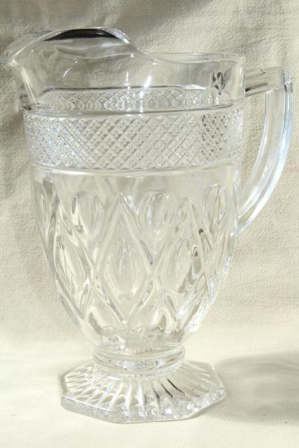 Vintage Imperial Cape Cod Ice Lip Pitcher Heavy Crystal