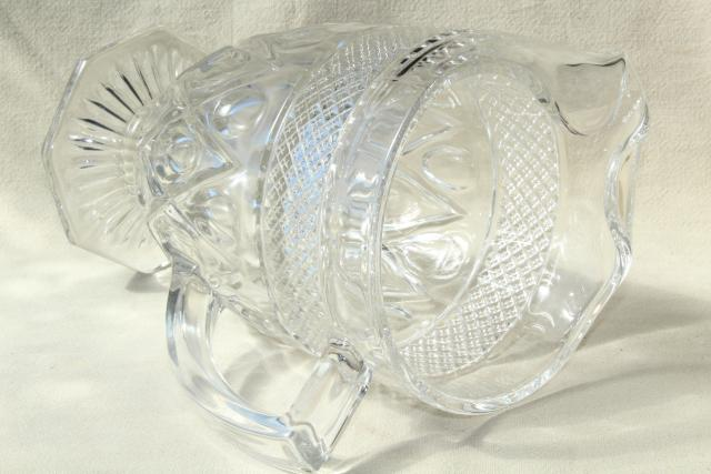 vintage Imperial Cape Cod ice lip pitcher, heavy crystal clear pressed glass