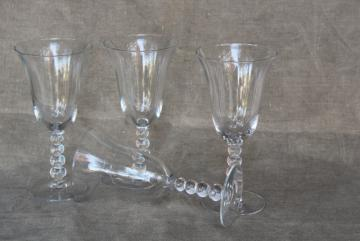 vintage Imperial candlewick crystal clear glass water glasses or large wine goblets