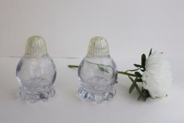 vintage Imperial candlewick pattern glass salt and pepper shakers S&P set
