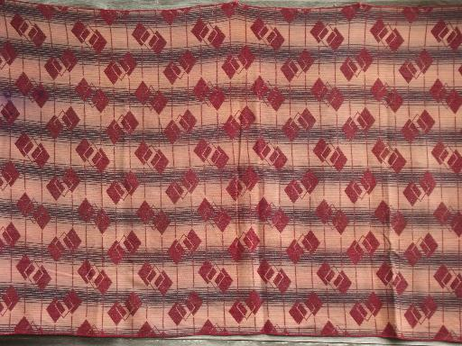 vintage Indian blanket, cotton / rayon camp blanket 40s 50s retro!