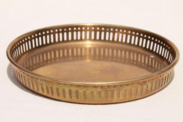 Vintage Brass Tray 70