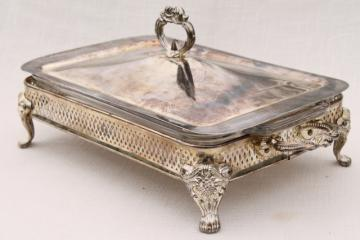 vintage International Silver silverplate chafing dish warming stand buffet server