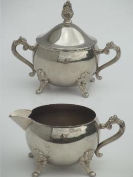 vintage International silver silverplated cream pitcher & sugar bowl set