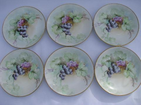 vintage Italy set of six hand-painted \u0026 signed Italian china plates purple grapes & vintage Italy set of six hand-painted \u0026 signed Italian china plates ...