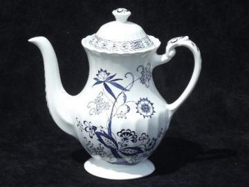 vintage J & G Meakin Blue Nordic blue & white onion pattern coffee pot