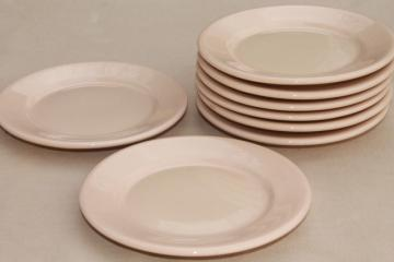 vintage Jackson China Jac - Tan adobe brown ironstone restaurant ware plates