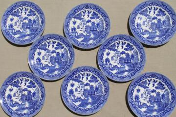 vintage Japan blue willow china bread & butter or dessert plates set of 8