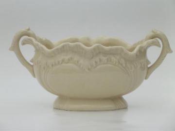 vintage Japan  creamware style ceramic planter w/ antique tureen shape