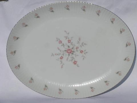 vintage Japan fine china, American Queen porcelain, Christine soup bowls & platter