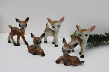 vintage Japan hand painted ceramic deer baby fawn Bambi collection china figurines