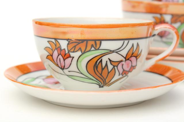 Vintage Japan Hand Painted China Tea Cups Amp Saucers Art