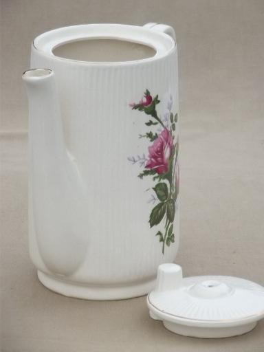 Vintage Japan Moss Rose China Electric Teapot 2 3 Cup Pot