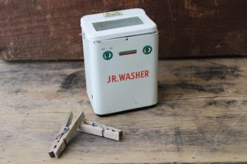 vintage Japan tin toy doll size clothes washer not working automatic Jr Washer