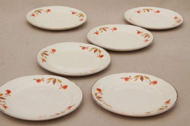vintage Jewel Tea autumn leaf bread \u0026 butter plates Hall china Jewel T dinnerware & fine china and vintage dinnerware