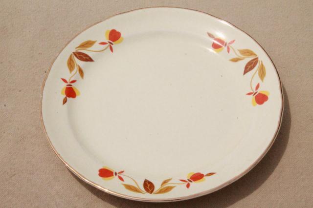 vintage Jewel Tea autumn leaf bread u0026 butter plates Hall china Jewel T dinnerware & vintage Jewel Tea autumn leaf bread u0026 butter plates Hall china ...