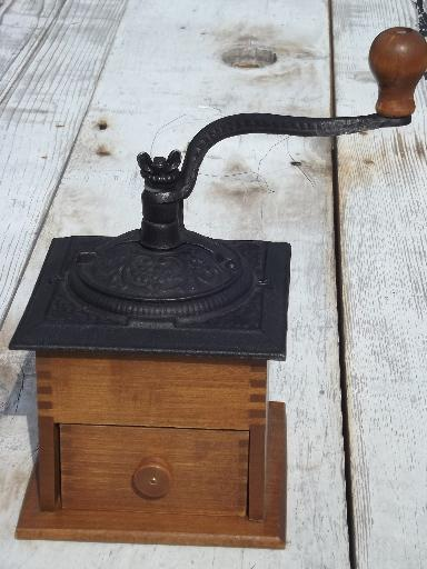 Hand Crank Coffee Grinder ~ Vintage john wright working reproduction antique hand