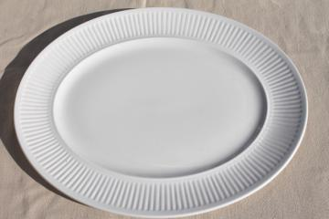 vintage Johnson Bros England Athena pattern white ironstone china platter