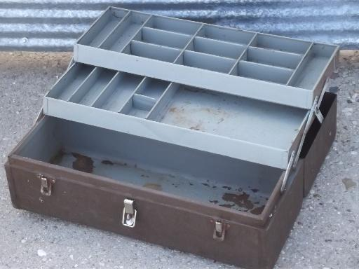vintage Kennedy tool / tackle box,  machinist's tool chest