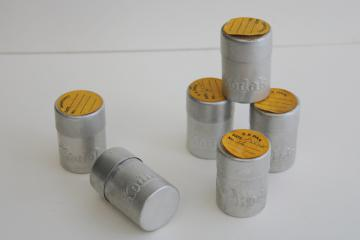 vintage Kodak film canisters containers, lot of 1930s aluminum tins full of film