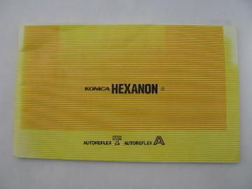 vintage Konica Hexanon camera lens advertising catalog