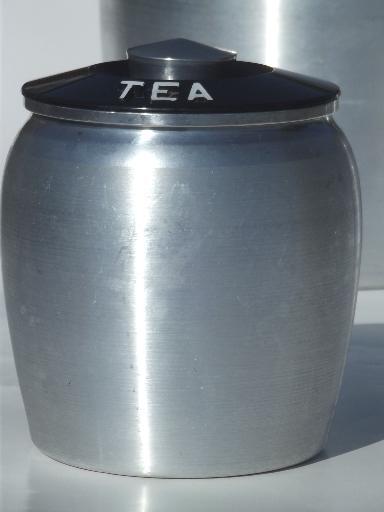 vintage kromex spun aluminum canister set retro kitchen