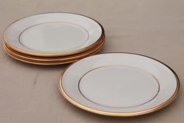 vintage Lenox Eternal gold band ivory china bread & butter plates, mint condition