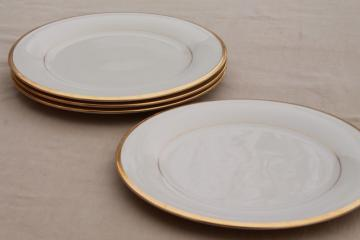 vintage Lenox Eternal gold band ivory china dinner plates, mint condition