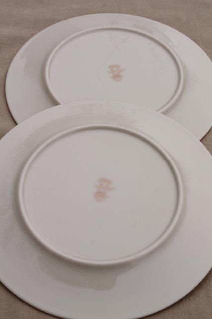vintage Lenox Eternal gold band ivory china salad plates, mint condition