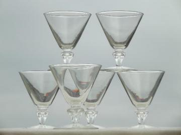 vintage Libbey / Rock Sharpe glass sherbet dishes or low champagne glasses